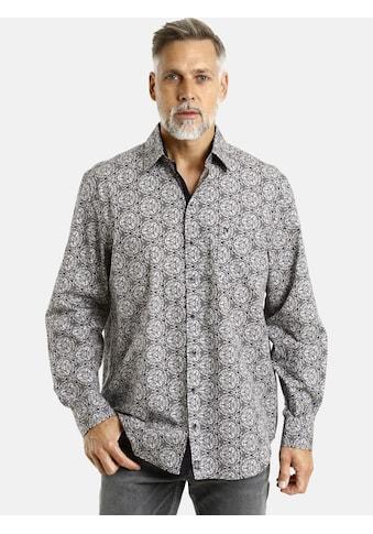 Jan Vanderstorm Langarmhemd »ENAR«, in modischem Allover Druck kaufen