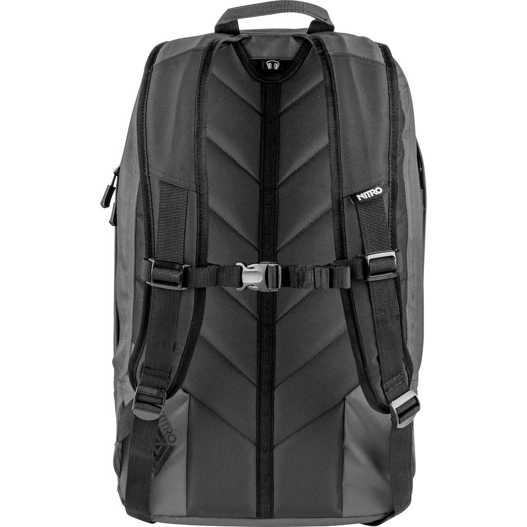 NITRO Laptoprucksack »Aerial, Black Checker«