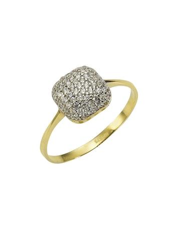 Vivance Ring »375/ -  Gelbgold bicolor 66x Zirkonia« kaufen