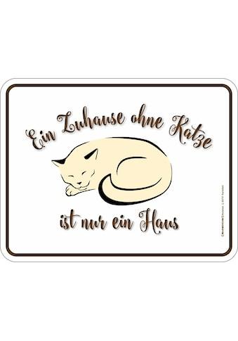 Rahmenlos Blechschild für den Katzenfreund kaufen