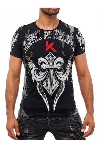 KINGZ T-Shirt, mit schönem Lilien-Motiv kaufen