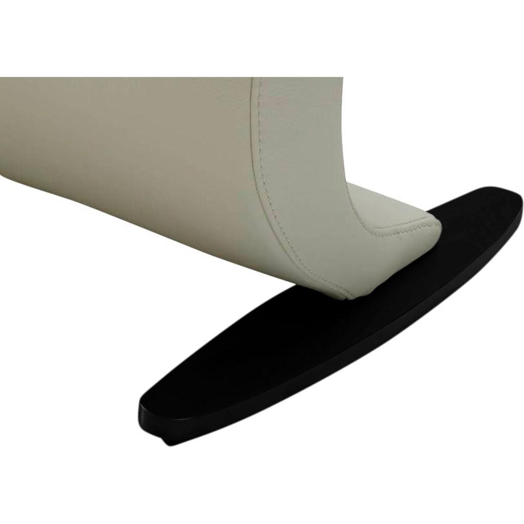 K+W Komfort & Wohnen Polsterbank »Wave«, in geschwungener Optik mit Metallkufe in schwarz Struktur