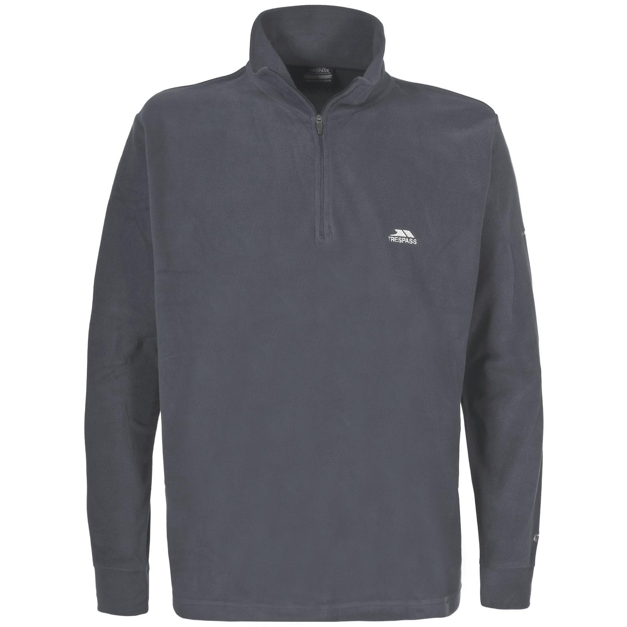 Trespass Fleecepullover Masonville Herren mit Reißverschluss bis zur Brust   Sportbekleidung   Grau   Fleece   Trespass