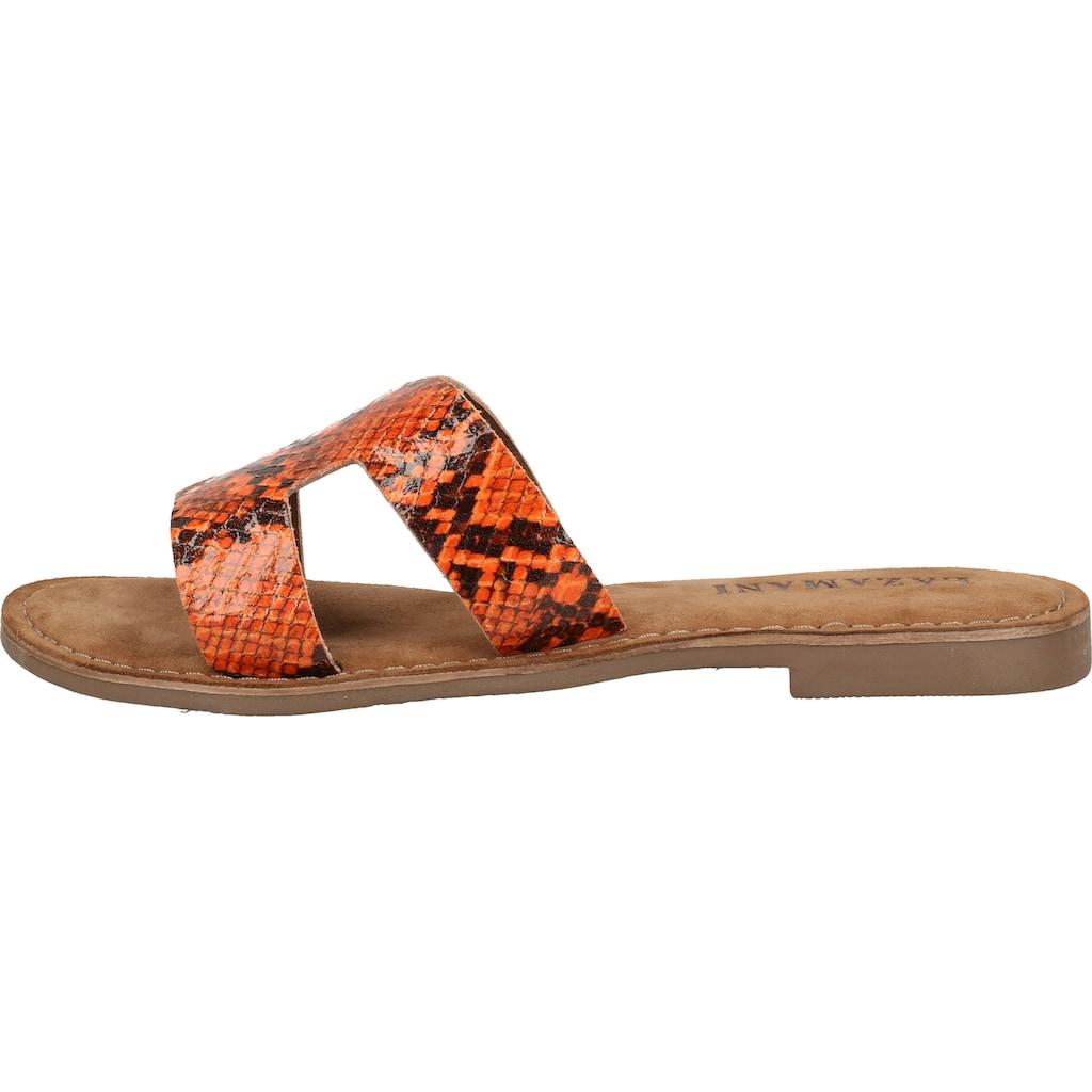 Lazamani Pantolette »Leder«