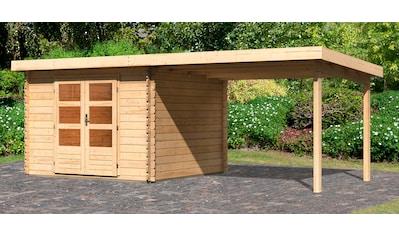 WOODFEELING Set: Gartenhaus »Bastrup 5«, BxT: 615x333 cm, mit Anbaudach kaufen