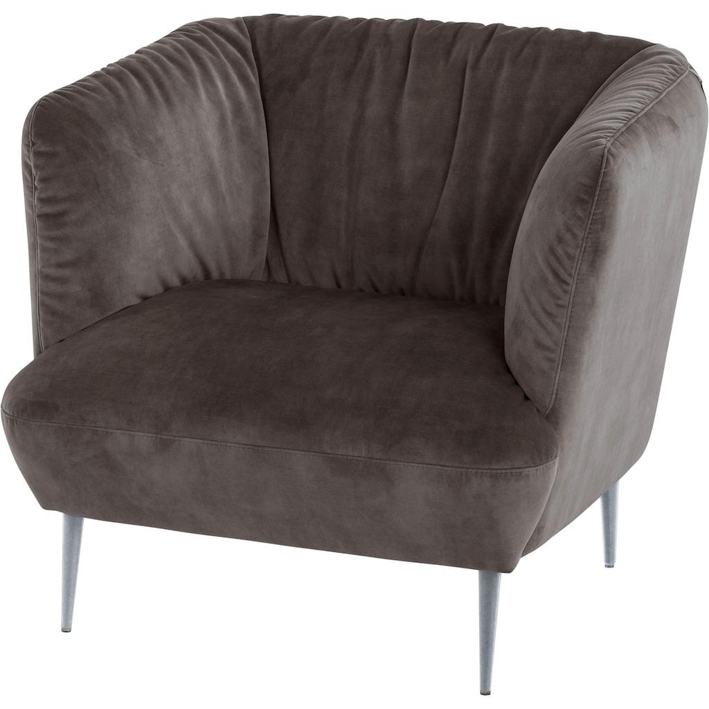 W.SCHILLIG Sessel »Villeroy & Boch ELLA«, Füße Silber matt