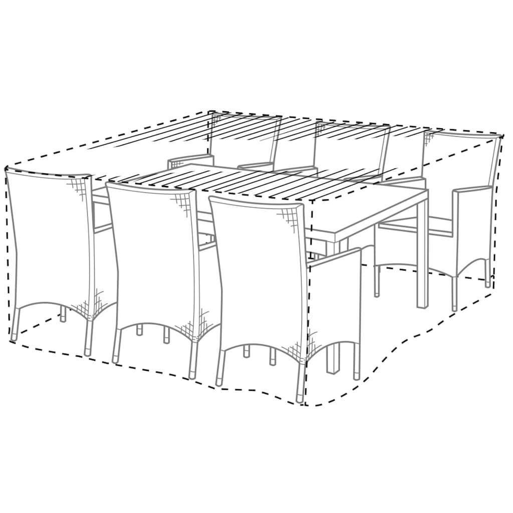 KONIFERA Gartenmöbel-Schutzhülle, LxBxH: 170x170x90 cm