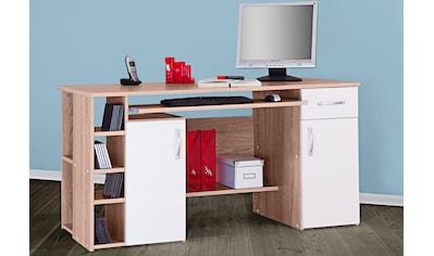 Schreibtisch »Tim«, mit 5 Fächern und Tastaturauszug kaufen