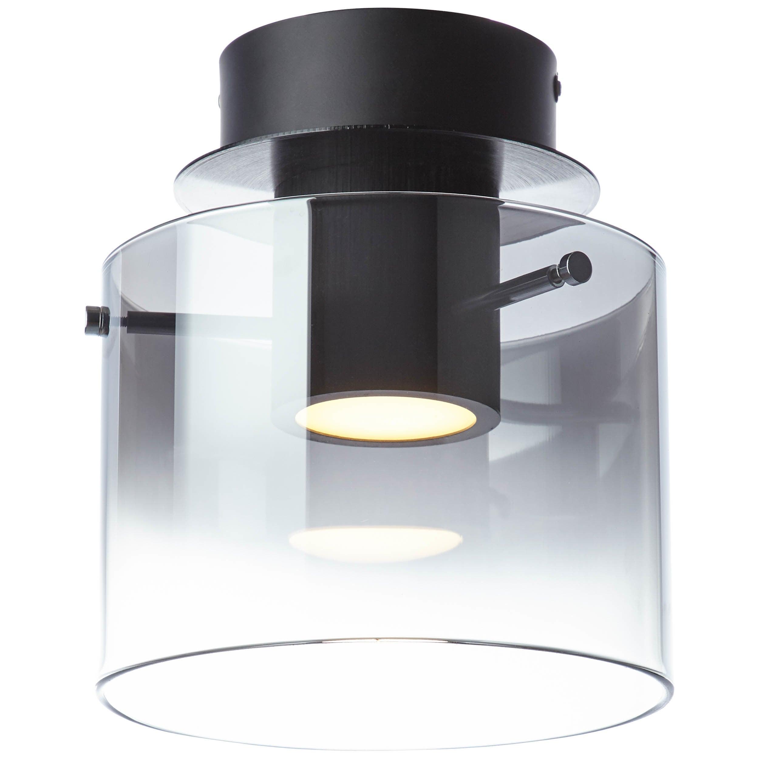 Brilliant Leuchten Beth LED Deckenleuchte 1flg schwarz/rauchglas