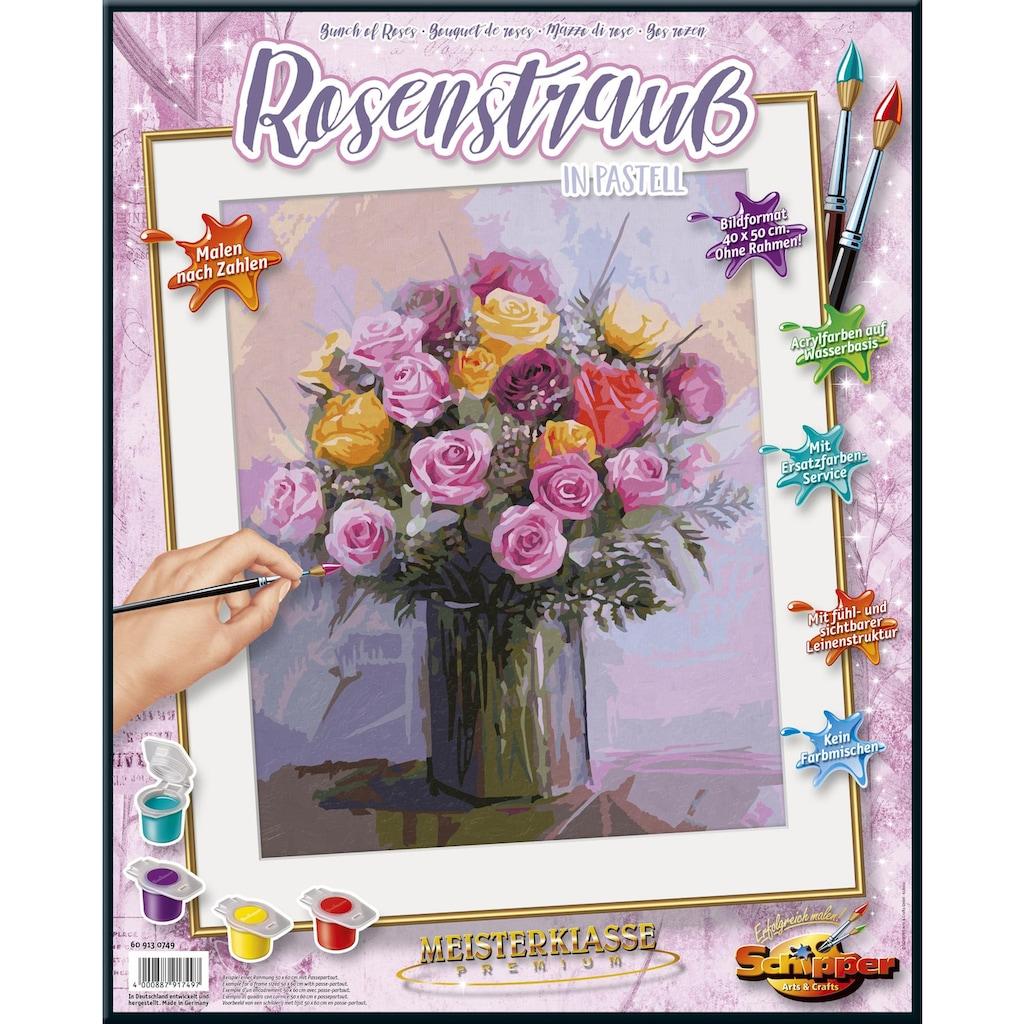 Schipper Malen nach Zahlen »Meisterklasse Premium, Rosenstrauß in Pastellfarben«, Made in Germany