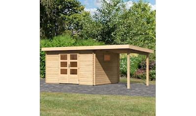 WOODFEELING Set: Gartenhaus »Trittau 4«, BxT: 576x333 cm, mit Anbaudach kaufen