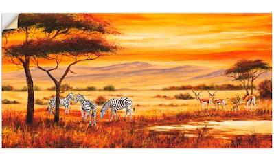 Artland Wandbild »Afrikanische Landschaft I« kaufen