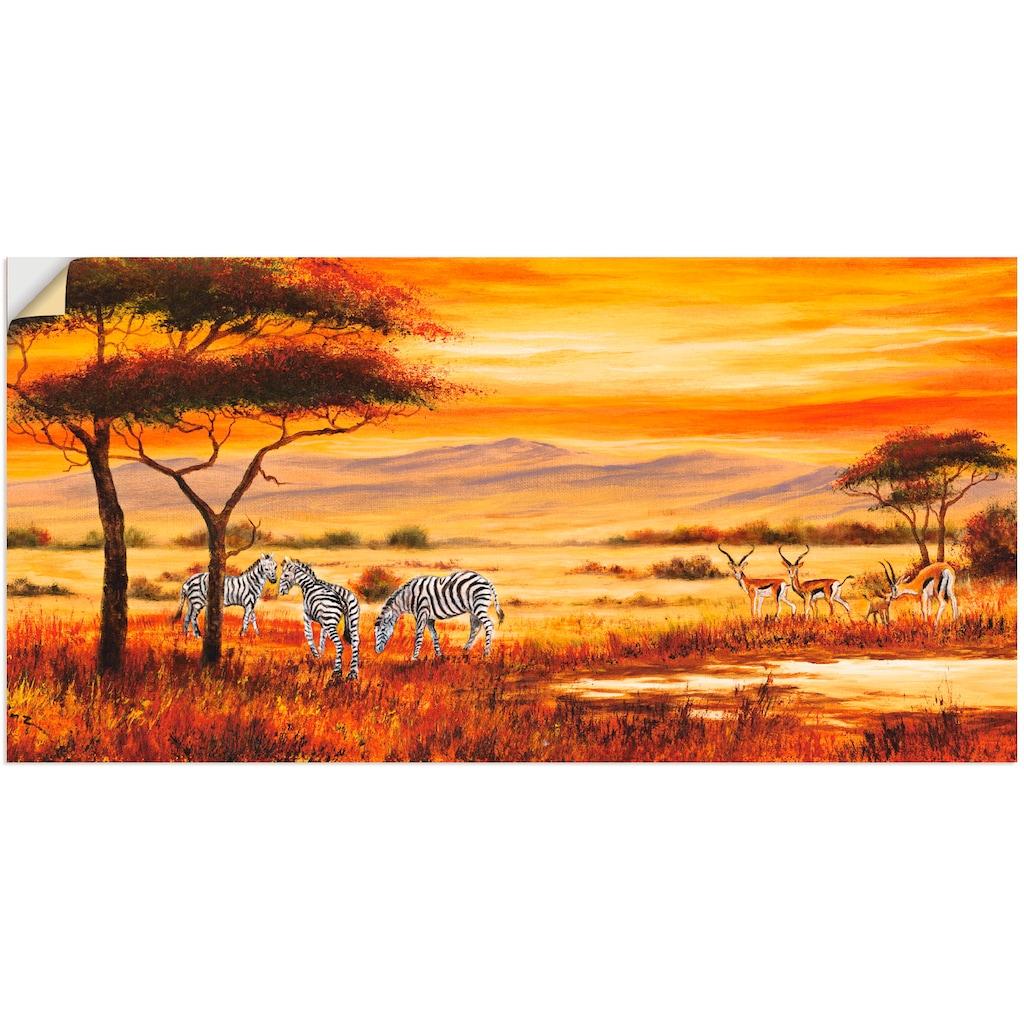 Artland Wandbild »Afrikanische Landschaft I«, Afrika, (1 St.)