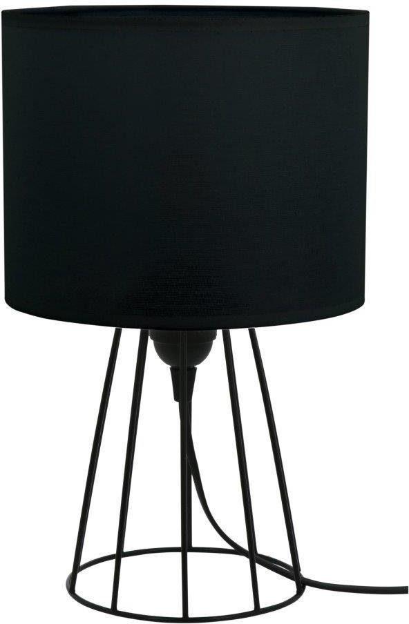 BRITOP LIGHTING Tischleuchte LUCIE, E27, Mit Textilschirm und Gestell aus Metall, Schnurschalter, Passende LM E27 / exklusive