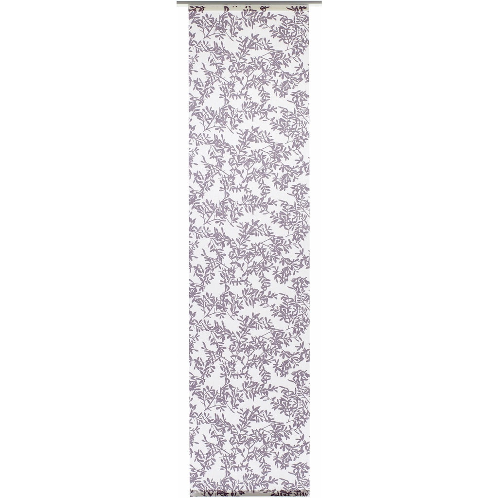 GARDINIA Schiebegardine »Flächenvorhang Stoff Rispe mit weißen Paneelwagen«, HxB: 245x60