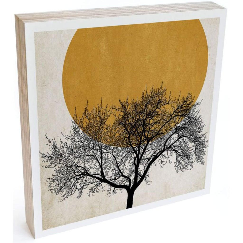 Wall-Art Holzbild »Tischdeko Wintermorgen«, (1 St.)