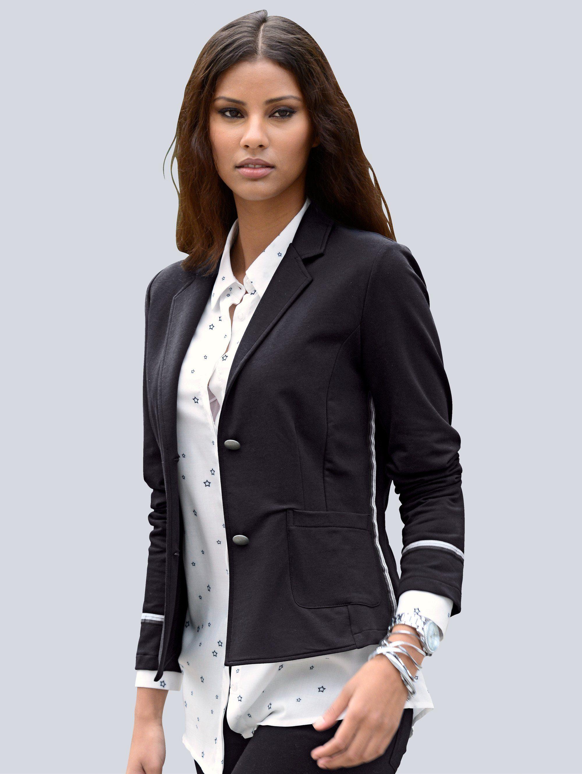 alba moda blazer aus trageangenehmer jerseyware shoppen baur. Black Bedroom Furniture Sets. Home Design Ideas