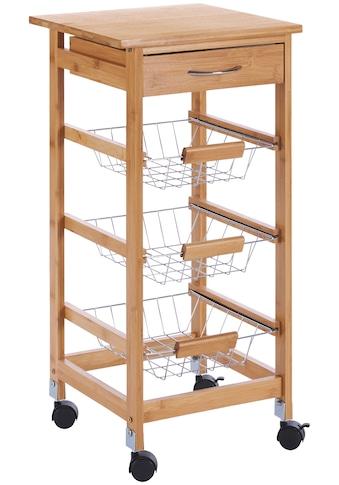 Küchenrollwagen »Bambus«, 37 x 37 x 76 cm kaufen