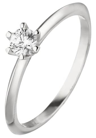 JOBO Solitärring, 585 Weißgold mit Diamant Brillant 0,25 ct. kaufen