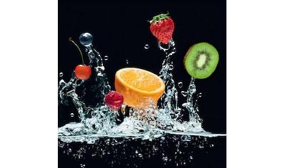 Reinders! Glasbild »Frucht Splash Orange« kaufen