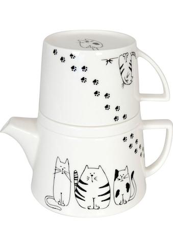 Könitz Teekanne »Tea for me - Funny cats«, 0,65 l, (Set, 3), Tekanne+Becher+Deckel/... kaufen