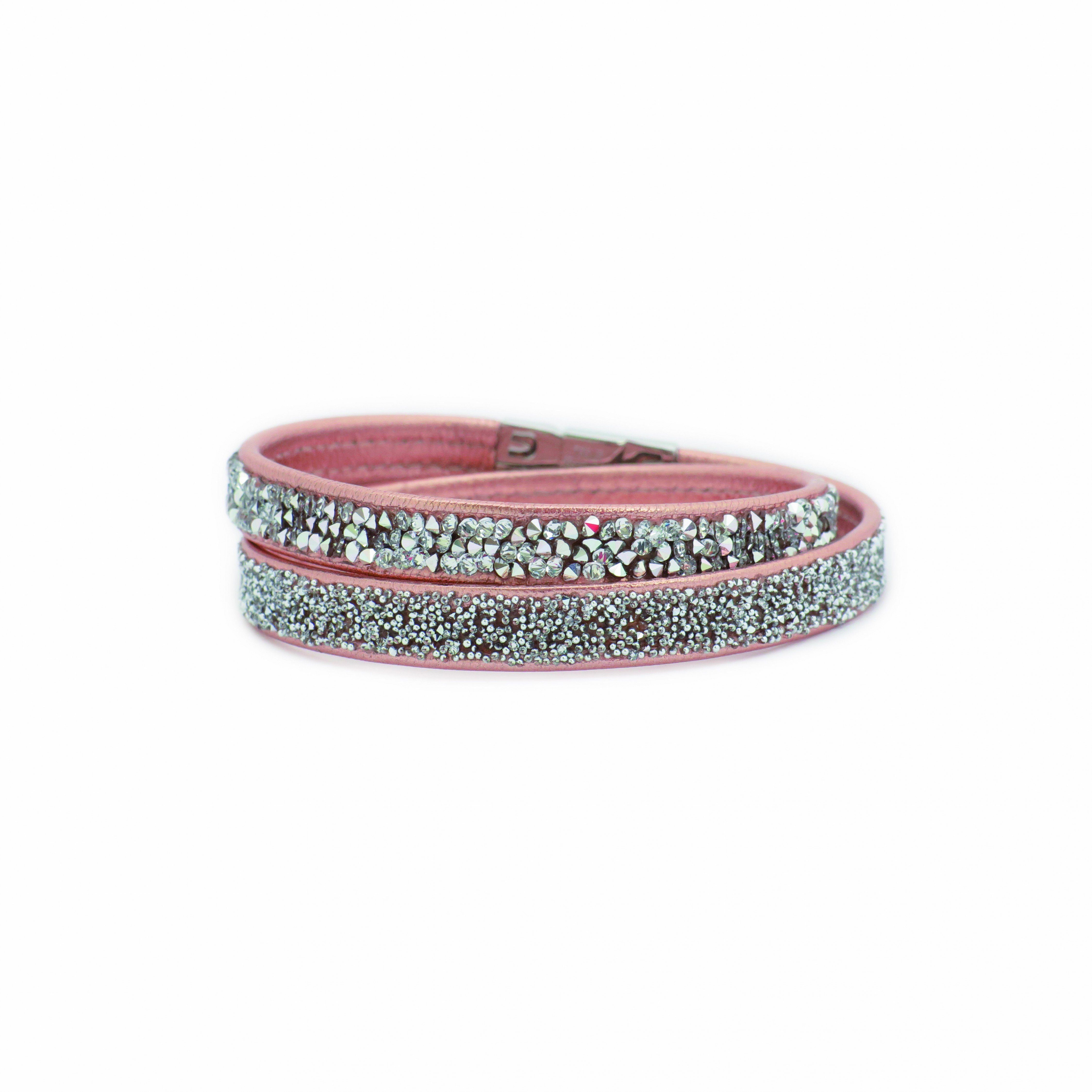 LOVING CRYSTAL Lederarmband mit Swarovski-Steinen | Schmuck > Armbänder > Lederarmbänder | Rot | Loving Crystal