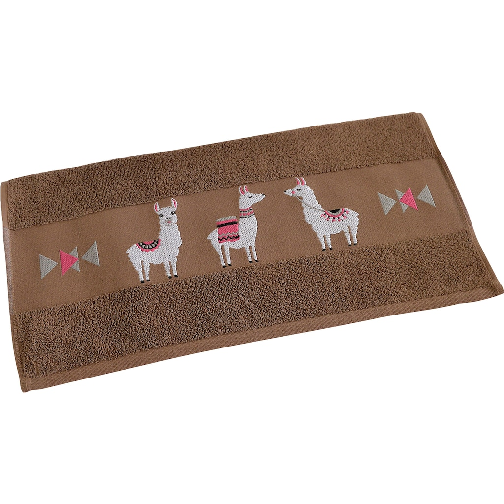 Dyckhoff Handtücher »Lama«, (2 St.), mit trendiger Lamabordüre