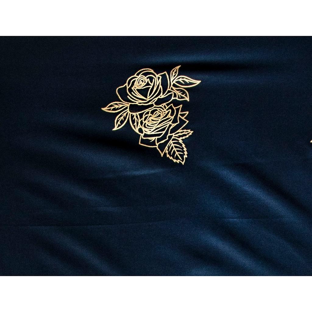 Goldmond Bettwäsche »Metallic Rosen«, hochwertiger Metallicdruck