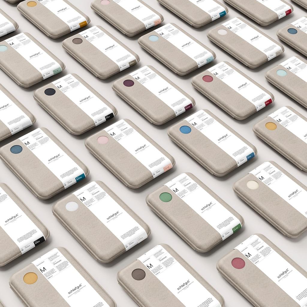 Schlafgut Spannbettlaken »Premium«, nachhaltige Zero Waste Verpackung