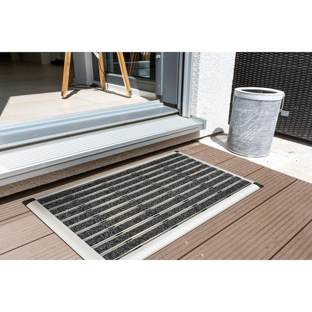 ASTRA Fußmatte »Alu-Türmatte Excellence Mat«, rechteckig, 14 mm Höhe, Schmutzfangmatte, In- und Outdoor geeignet