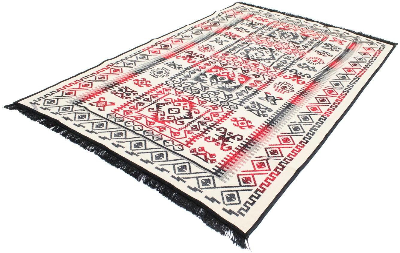 morgenland Wollteppich Kelim Teppich Irena, rechteckig, 5 mm Höhe, reine Baumwolle bunt Baumwollteppiche Naturteppiche Teppiche