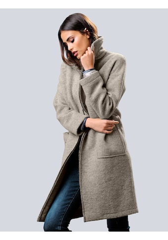 Alba Moda Kurzmantel in trendiger Kochwolloptik kaufen