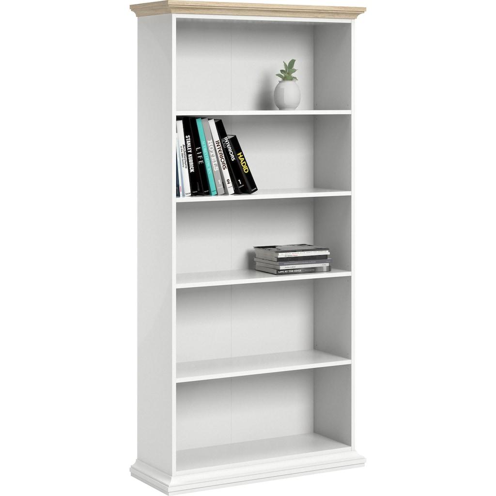 Home affaire Bücherregal, mit einer schönen Deckplatte in eiche/struktur, erstrahlt in schöner Holzoptik