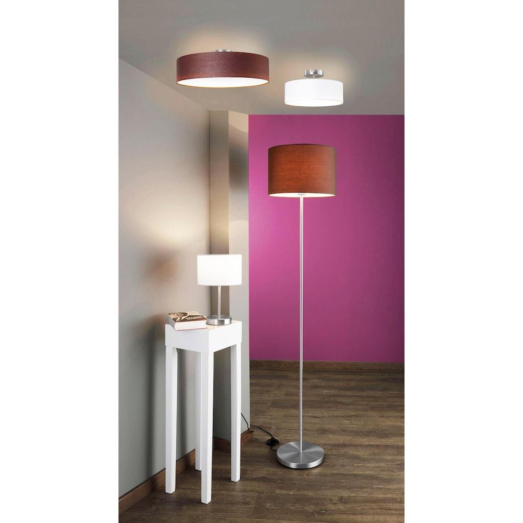 TRIO Leuchten Deckenleuchte »Hotel«, E27, Deckenlampe Ø 50 cm mit Stoff-Schirm, Leuchtmittel tauschbar