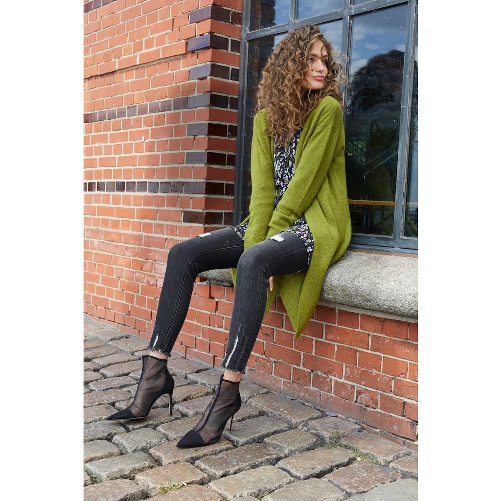 Aniston CASUAL Longbluse, mit Rüschen und Volant verziert
