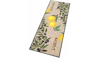 wash+dry by Kleen-Tex Küchenläufer »Le Citron«, rechteckig, 7 mm Höhe, In- und Outdoor geeignet kaufen