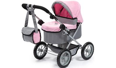 Bayer Puppenwagen »Trendy, grau/rosa«, mit Wickeltasche kaufen