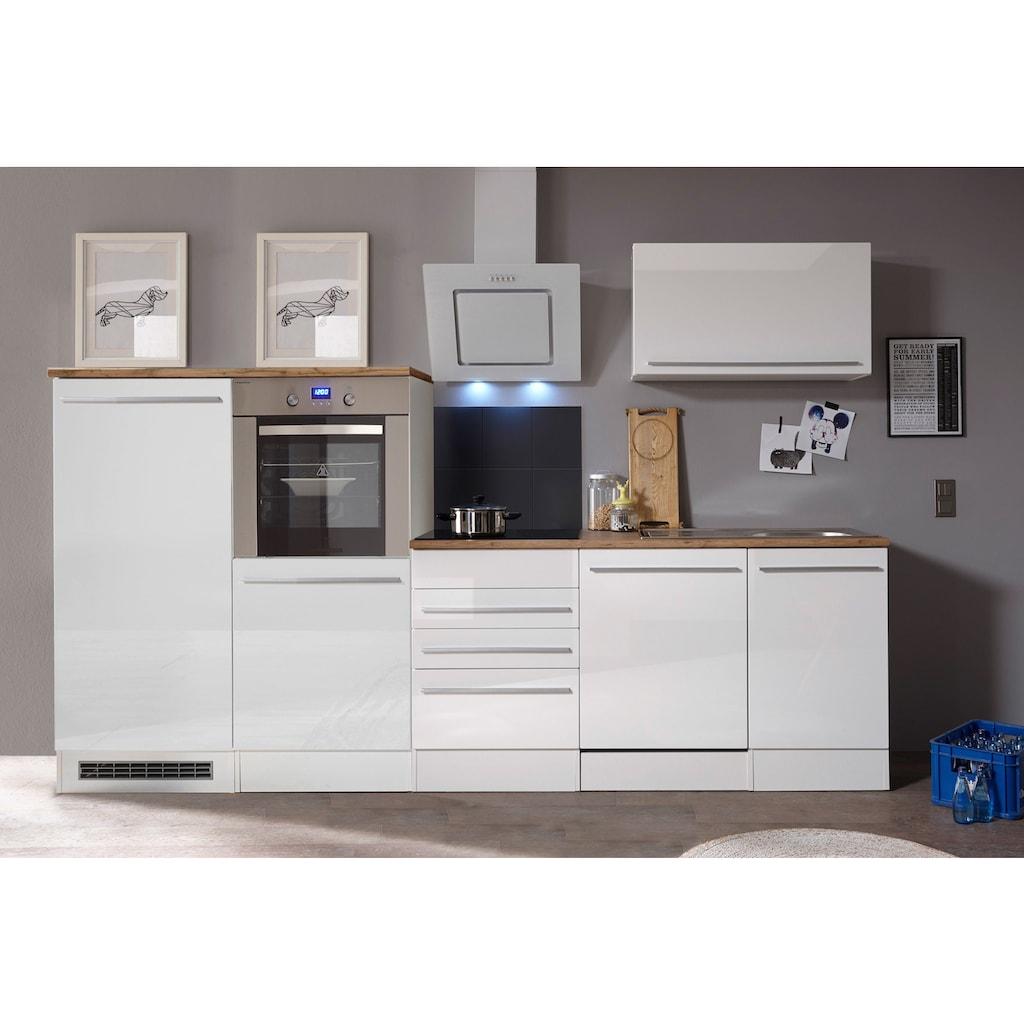 RESPEKTA Küchenzeile »Palma«, mit E-Geräten, Gesamtbreite 290 cm