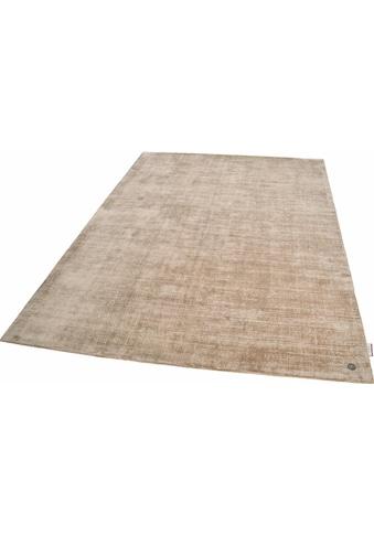 TOM TAILOR Teppich »Shine uni«, rechteckig, 8 mm Höhe, Vintage Design, mit elegantem... kaufen