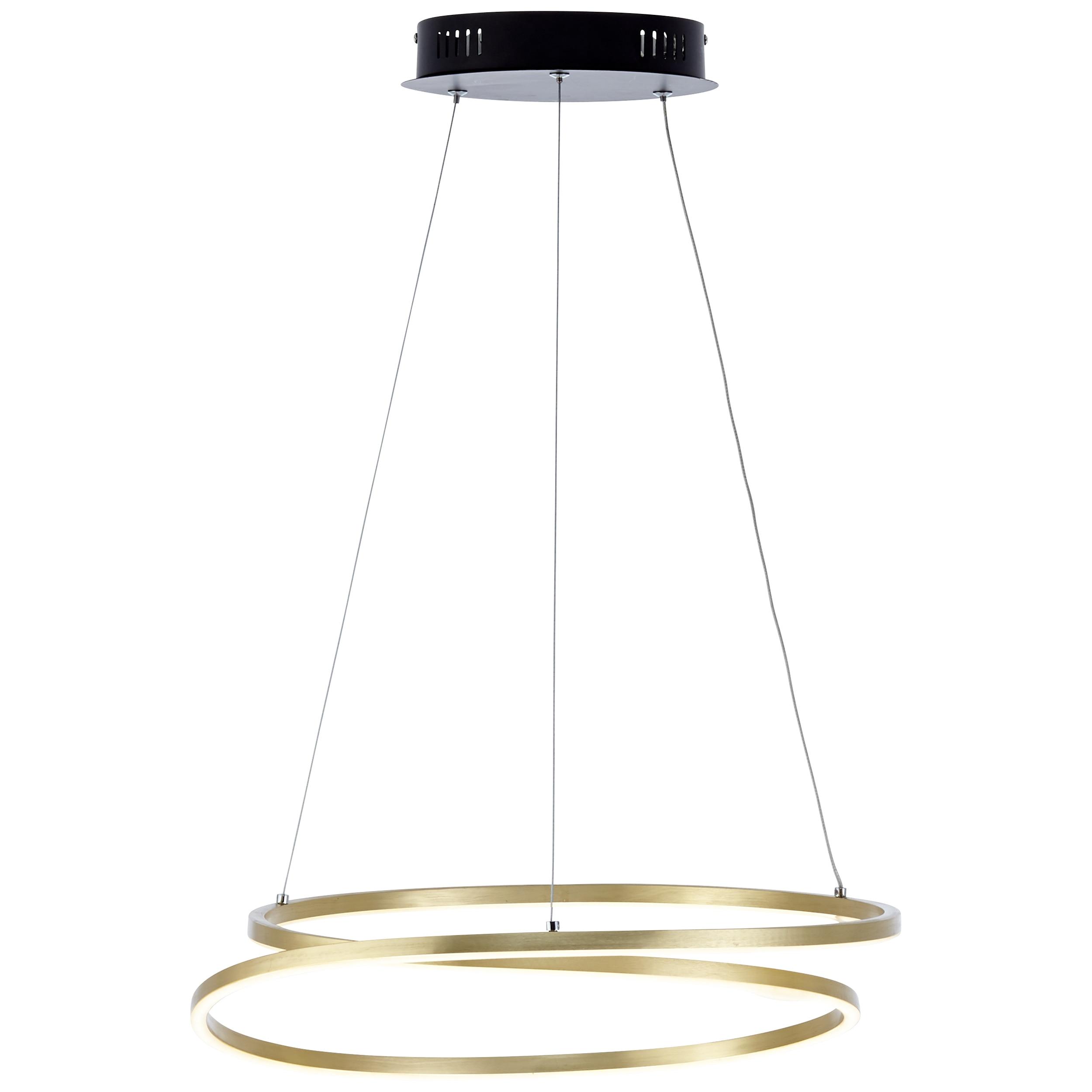 Brilliant Leuchten Barrie LED Pendelleuchte 50cm schwarz/messing