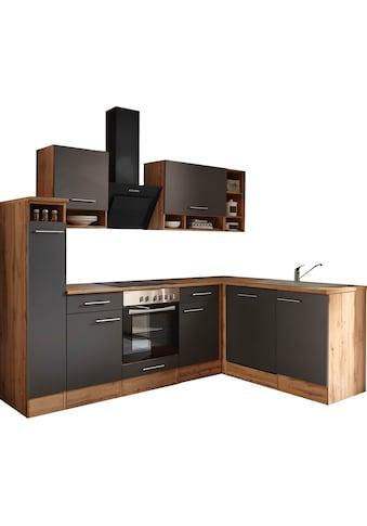 RESPEKTA Winkelküche »Lübeck«, mit E-Geräten, Stellbreite 250 x 172 cm kaufen