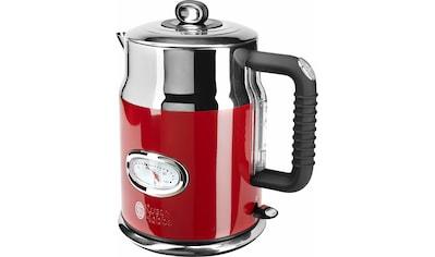 RUSSELL HOBBS Wasserkocher, WK 21670 - 70 Retro Red, 1,7 Liter, 2400 Watt kaufen