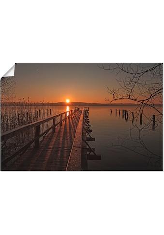 Artland Wandbild »Frostiger Morgen am Ratzeburger See«, Sonnenaufgang & -untergang, (1... kaufen