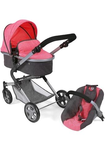 """CHIC2000 Kombi - Puppenwagen """"Lia, anthrazit - pink"""" kaufen"""