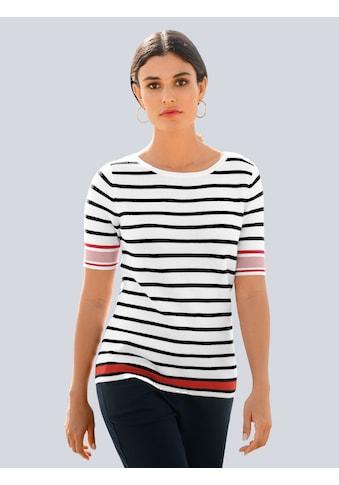 Alba Moda Strickpullover, im trendigen Streifendessin kaufen