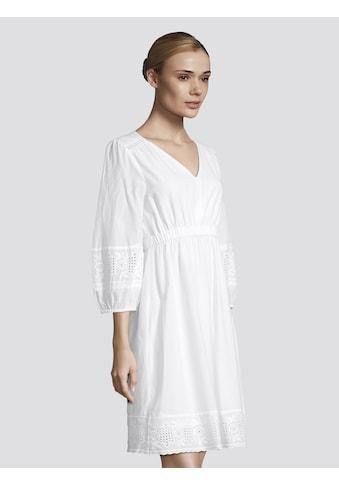 TOM TAILOR Sommerkleid »Kurzes Kleid mit Lochstickerei« kaufen