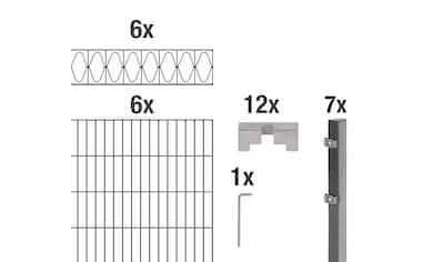 GAH Alberts Doppelstabmattenzaun »Eleganz«, anthrazit, 120 cm hoch, 6 Matten für 12 m,... kaufen