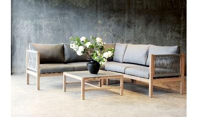 BEST Loungeset »Madagaskar«, 15 - tlg., 3er - Bank, 2er - Bank,Tisch 74x74 cm kaufen