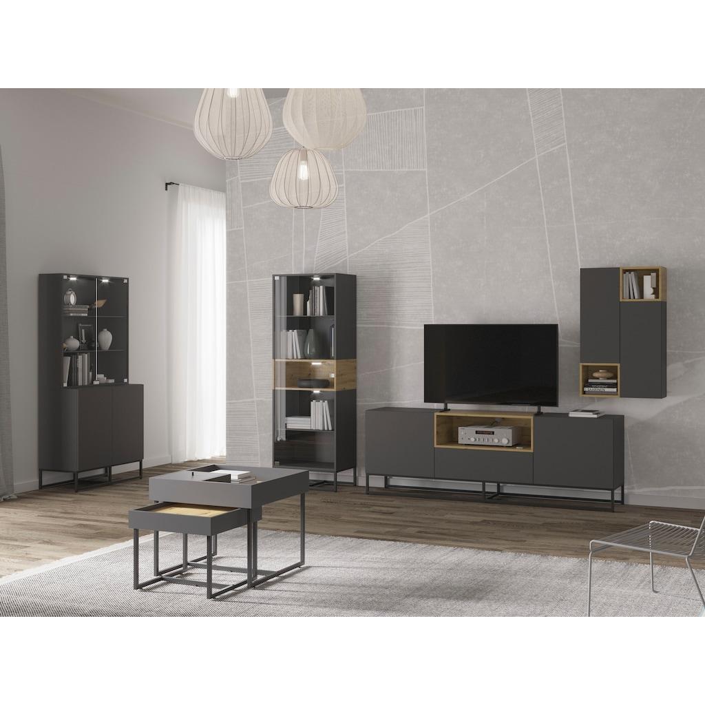 andas Buffet »Calipso«, mit Hintergrundbeleuchtung und Push-to-open Funktion, Breite 90 cm