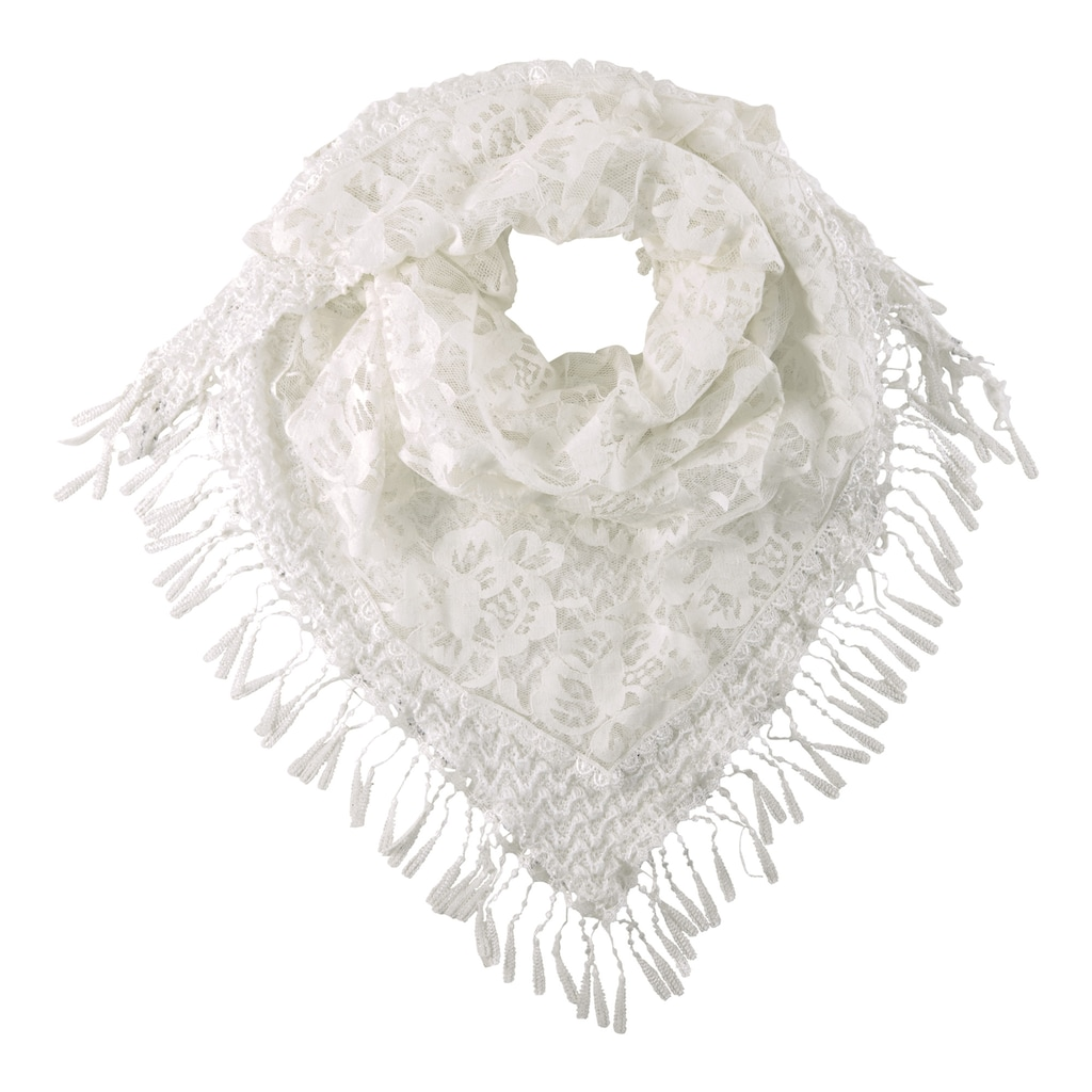 Schal mit Spitze